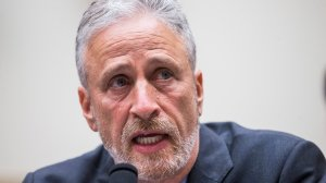 Former Daily Show Host Jon Stewart testifies during a House Judiciary Committee hearing on reauthorization of the September 11th Victim Compensation Fund on Capitol Hill on June 11. (Credit: Zach Gibson/Getty Images)