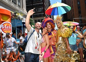 Procter & Gamble celebrates Pride with branded trikes and employees in the World Pride Parade on June 30, 2019, in New York City. (Credit: Bryan Bedder/Getty Images for P&G)