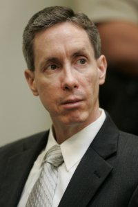 Warren Jeffs watches the proceedings during his trial on September 18, 2007, in St. George, Utah. (CREDIT: POOL/AFP/Getty Images)