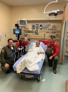 The Montrose Search and Rescue Team tweeted this photo on June 30, 2019 of Eugene Jo after he was rescued in the San Gabriel Mountains.