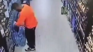 A man is seen on video tampering with water bottles in Mission Viejo on June 17, 2019. (Credit: Orange County Sheriff's Department)