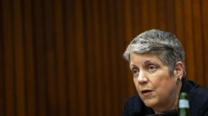 Janet Napolitano is shown in an undated photo. (Credit: Kent Nishimura/Los Angeles Times)