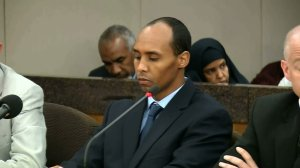 Former Minneapolis Police Officer Mohamed Noor is seen June 7, 2019, after being sentenced in the fatal shooting of a woman who called 911. (Credit: WCCO via CNN)