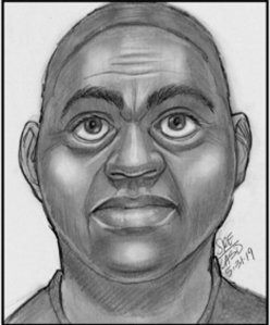 A sketch of a man wanted in connection with a sexual assault was released by the Los Angeles County Sheriff's Department on June 18, 2019.