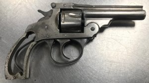 West Covina police released this photo of a gun they said was recovered in Covina in connection with a pursuit on June 22, 2019.
