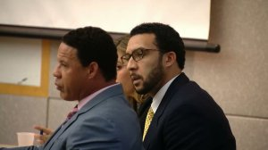 Kellen Winslow Jr. is seen in a San Diego County courtroom as verdicts are read in his rape trial on June 10, 2019. (Credit: CNN)
