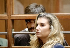 Rhett Nelson appears in court with his defense attorney, Jenn Bartick, on July 22, 2019 to enter a not guilty plea.(Credit: Al Seib / Los Angeles Times)