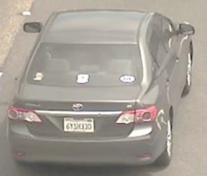 Anaheim police released this photo of McCabe's vehicle, which was stolen after he was killed.