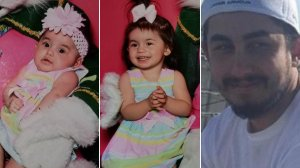 From left: Emma and Darla Yonko and Joshua Adle appear in photos released by Riverside police on July 24, 2019.
