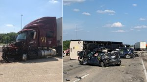 The aftermath of a deadly crash in Indiana is seen in photos released by Indiana State Police in July 2019.