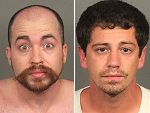 James Anderson, left, and Devin Daniel Lujan are seen in booking photos released July 2, 2019, by the Riverside County Sheriff's Department.