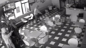 Santa Ana police shared video of a robbery that occurred at a cafe on July 4, 2019.