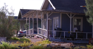 A home in Trona that sustained damage following a magnitude 7.1 earthquake is seen on July 6, 2019. (Credit: RMG News)