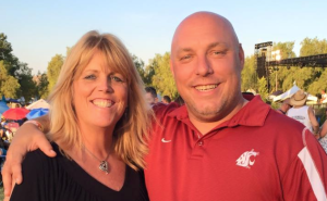 Richard Tyrrell, right, and his girlfriend Marcy Sattelmaier are seen in an undated photo posted to Facebook on July 9, 2019.