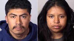 David Villa, 21, on the left, and Andrea Torralba, 20, are seen in undated photos provided by the Oxnard Police Department on July 19, 2019.