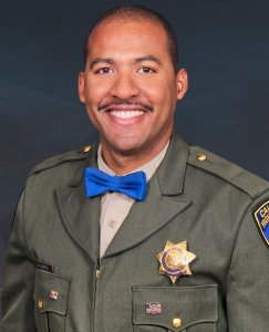 Officer Andre Moye appears in a photo released by the California Highway Patrol on Aug. 13, 2019.