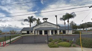 The Faith Baptist Church on Walnut Street in Wildomar is seen in a Google Maps Street View image from February 2019.