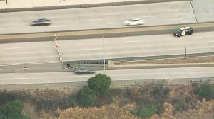 A portion of the 2 Freeway in the Glendale area remained closed on Aug. 26, 2019. (Credit: KTLA)