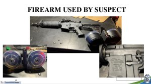 Photos of the weaponry used in the Dayton, Ohio mass shooting on Aug. 4, 2019. (Credit: Dayton Police Department)