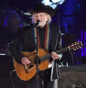 Willie Nelson performs onstage during MusiCares Person of the Year honoring Dolly Parton at Los Angeles Convention Center on February 8, 2019 in Los Angeles. (Credit: Frazer Harrison/Getty Images)