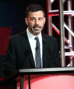 Jimmy Kimmel speaks during the 2019 Winter Television Critics Association Press Tour at The Langham Huntington in Pasadena on Feb. 5, 2019. (Credit: Frederick M. Brown/Getty Images)