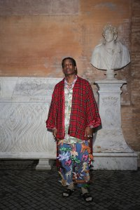 Rakim Mayers, aka A$AP Rocky, arrives at the Gucci Cruise 2020 at Musei Capitolini on May 28, 2019, in Rome, Italy. (Credit: Vittorio Zunino Celotto/Getty Images for Gucci)