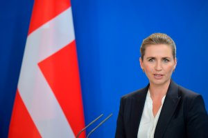 Denmark's Prime Minister Mette Frederiksen addresses a joint press conference after talks on July 11, 2019 at the Chancellery in Berlin. (Credit: TOBIAS SCHWARZ/AFP/Getty Images)