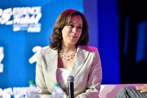 Kamala Harris speaks onstage at 2019 ESSENCE Festival Presented By Coca-Cola at Ernest N. Morial Convention Center on July 6, 2019, in New Orleans. (Credit: Paras Griffin/Getty Images for ESSENCE)
