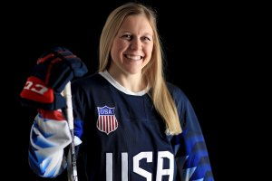 Kendall Coyne #26 of the United States Women's Hockey Team poses for a portrait on January 16, 2018 in Wesley Chapel, Florida.  (Credit: Mike Ehrmann/Getty Images)