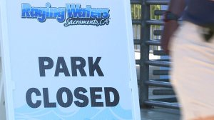 Raging Waters in Sacramento was closed following a brawl on Aug. 25, 2019. (Credit: KTXL)