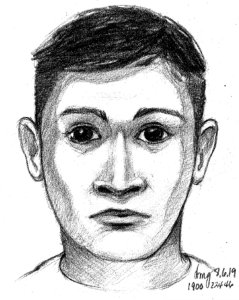 Riverside police released this sketch of the attempted kidnapping suspect.