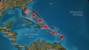 A well-known forecast model is predicting Tropical Storm Dorian will pack hurricane-force winds when it reaches the Florida Peninsula. (Credit: CNN)