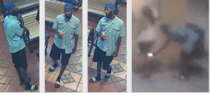 Los Angeles County Sheriff's Department officials on Aug. 8, 2019 released these photos of a man suspected of taking photos up a woman's skirt on July 31, 2019.
