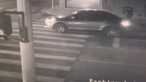 The Honda sedan being sought in connection with an Aug. 6, 2019, hit-and-run crash in South Los Angeles is seen in a still from surveillance video released by the L.A. Police Department.