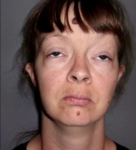 Mary Elizabeth Moore is seen in a booking photo obtained by KTLA sister station KFOR in Oklahoma City.