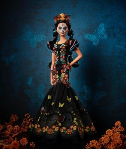 The Dia de los Muertos Barbie, or Day of the Dead Barbie, celebrates the annual Mexican festival, in which people honor their departed loved ones. (Credit: Mattel, Inc.)