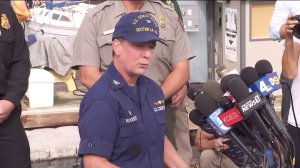 Authorities update media on the Santa Cruz Island boat fire at a press conference on Sept. 2, 2019. (Credit: KTLA)