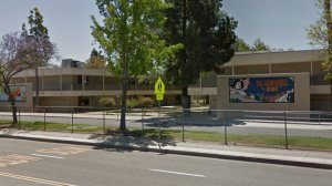 El Modena High School in Orange is shown in a Street View image from Google Maps.