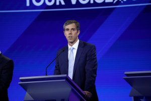 Beto O'Rourke speaks at the Democratic debate from Texas Southern University's Health & PE Center in Houston on Thursday, September 12 on ABC and Univision. (Credit: Heidi Gutman/Walt Disney Television via Getty Images) BETO OROURKE