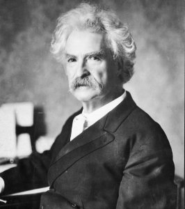 A portrait of American writer Mark Twain (Samuel Clemens, 1835 - 1910), circa 1900. (Photo by Hulton Archive/Getty Images)