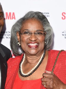 Juanita Abernathy and her son attend the 'Selma' and The Legends Who Paved The Way Gala at Bacara Resort on December 6, 2014 in Goleta. (Credit: Jason Merritt/Getty Images)