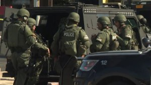 SWAT officers helped in the search for a armed robber in Glendora on Sept. 6, 2019. (Credit: KTLA)