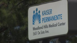 The Kaiser Permanente in Woodland Hills is seen in a photo taken on Sept. 17, 2019. (Credit: KTLA)