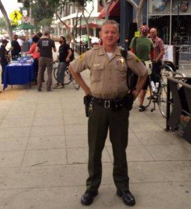 Now-retired Los Angeles County Sheriff's Department Lt. David Smith, as pictured in a photo on the LASD West Hollywood Station's Facebook page on May 1, 2016.