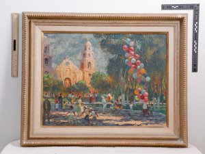This painting is one of the many stolen items recently recovered by the Los Angeles Police Department. This image is listed on a site investigators created to help owners recover their stolen property.