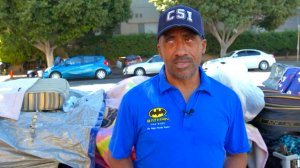 Shawn Pleasants stands along the streets in Koreatown where he lives in this undated photo. (Credit: CNN)