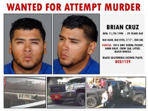 Brian Cruz is shown in a Glendale Police Department bulletin released on Sept. 25, 2019.