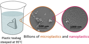 An image from a McGill University press release illustrates microsplastics from tea bags in a study published Sept. 25, 2019.