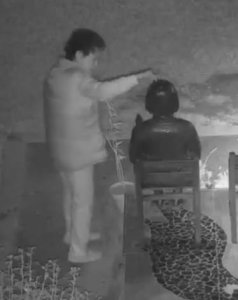 Surveillance video released on Sept. 27, 2019 by the Glendale Police Department shows a woman vandalizing a peace monument the day before.