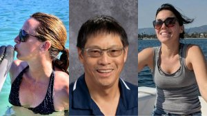 Left: Marybeth Guiney is seen in a photo posted on her Facebook page; Center: Raymond Scott Chan appears in a photo released by the Fremont School District; Right: Alexandra Kurtz is seen in a photo on a GoFundMe page.